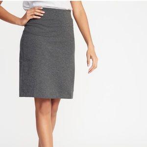 Dark grey ponte knit pencil skirt